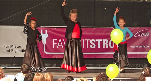 Auftritt schülerinnen flamenco Ludwisgburg
