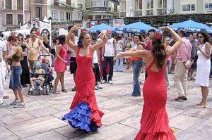 Flamenco auf der Straße